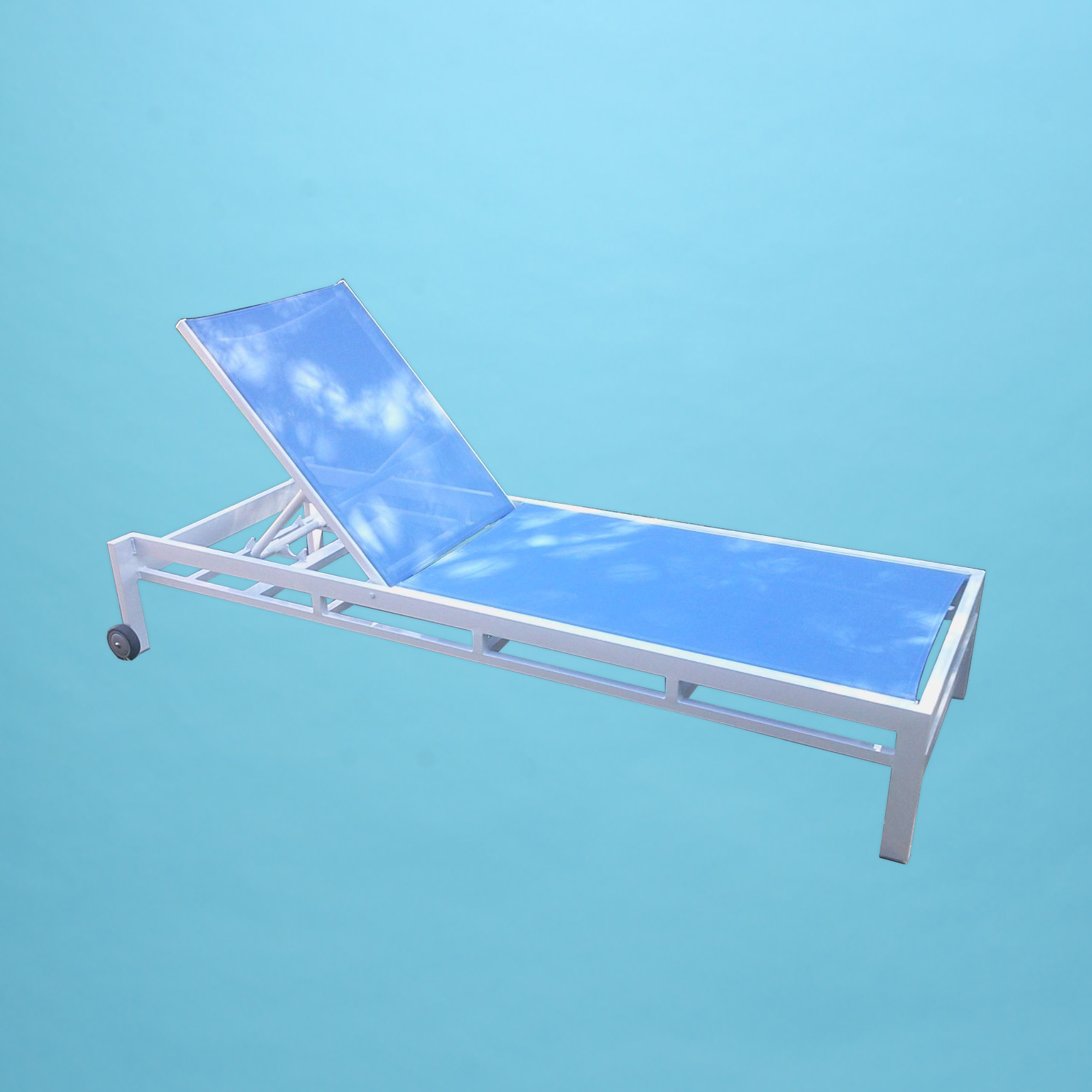 D Line Sling Chaise Lounge With 4 Quot Wheels Patio