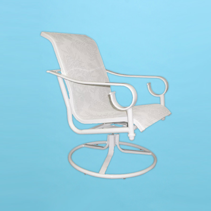S 350 Sierra Line Sling Swivel Rocking Chair With Arms