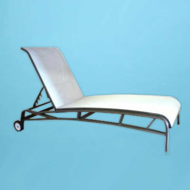E-150A Eclipse Sling line Chaise lounge with arm