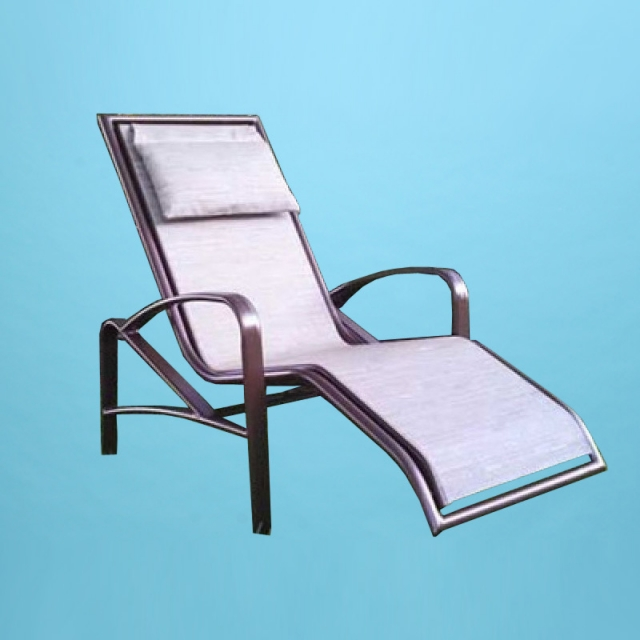 E-175 P Eclipse ergonomic rocker chaise lounge with head pillow