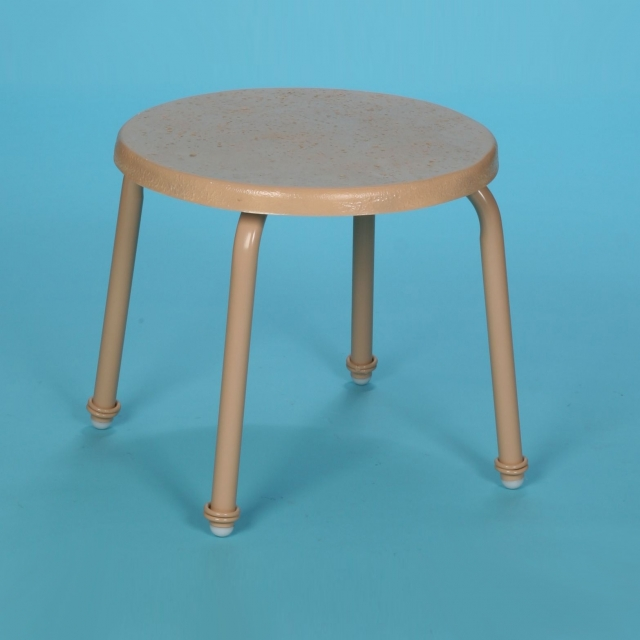 "S-18FS, 18"" round faux stone side table no hole"
