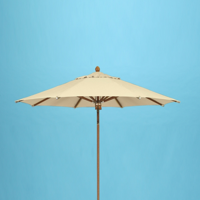 9' x 8 rib wood umbrella