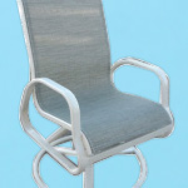 I-350 line sling swivel rocking chair with arms