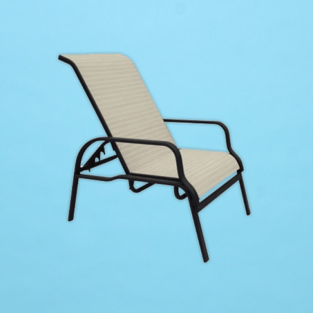 I-90 line sling reclining chair with arms