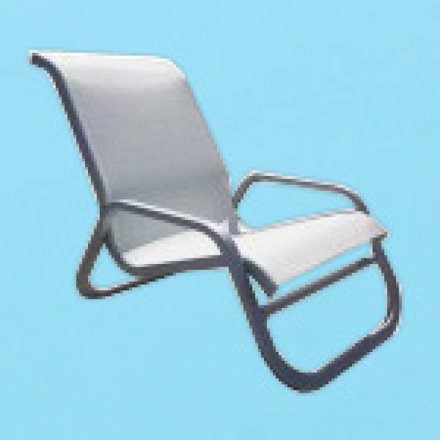 I-40 line sling sand chair with flat arms