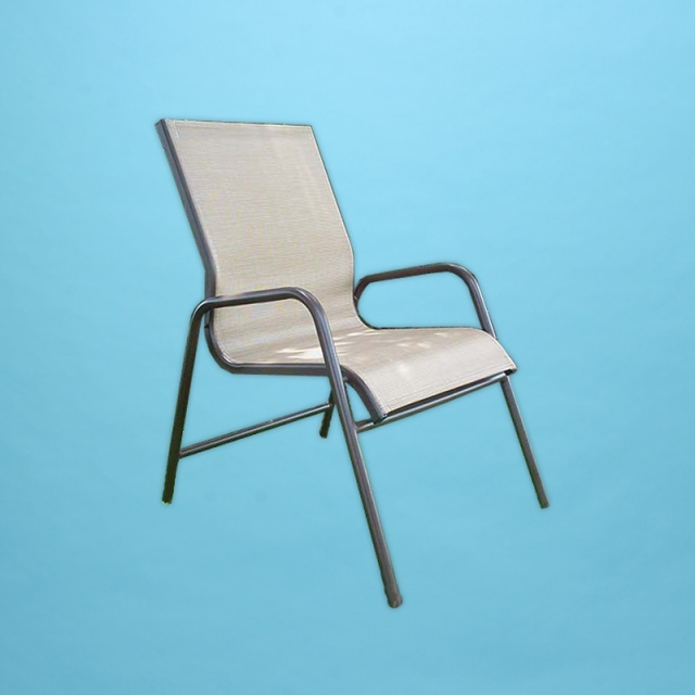 C-50SL  classic sling line dining chair with round arm
