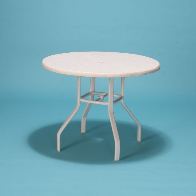 "42"" Commercial Grade round fiberglass top table"