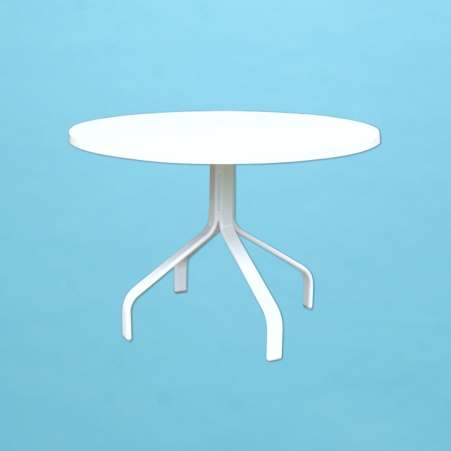 "E Line 36"" round dining table with fiberglass top"