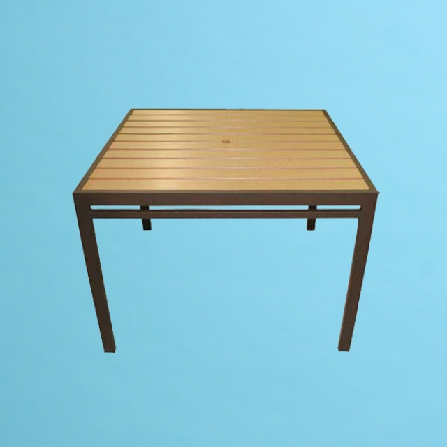 "ECO wood 42"" square table"