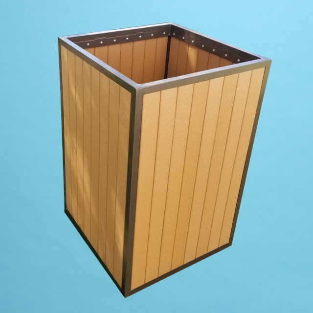 ECO wood trash receptacle