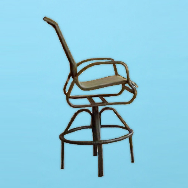 I-375 line sling swivel bar stool with arms