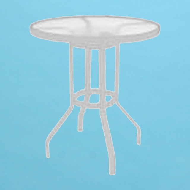 "48"" Commercial Grade round acrylic top bar table with hole"