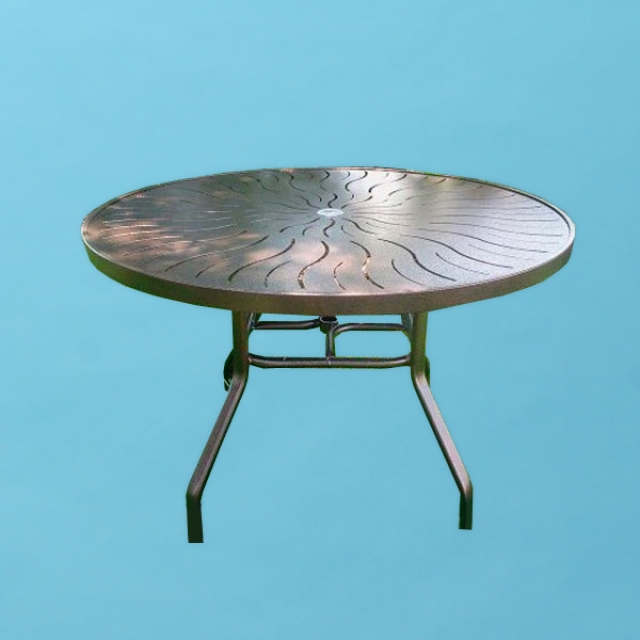 "42"" round R style Aluminum top table"