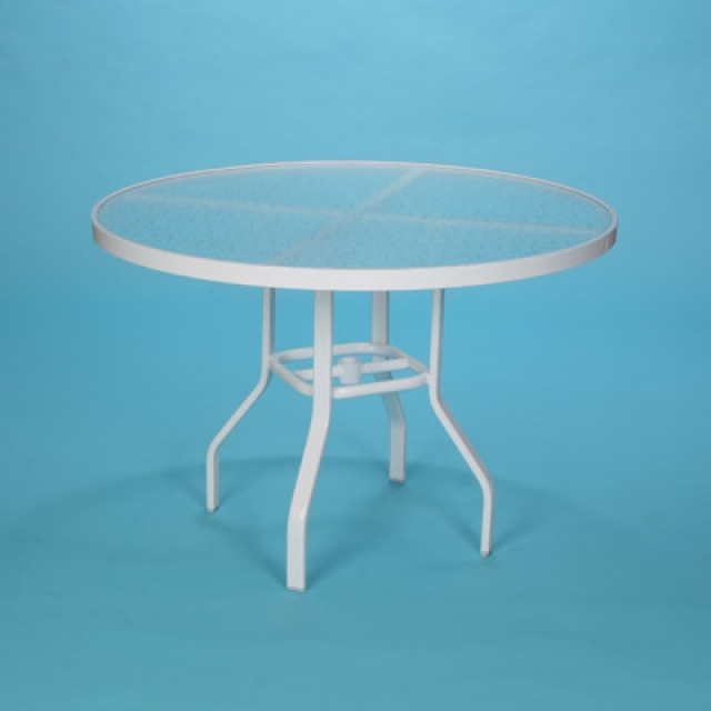 "48"" Commercial Grade round acrylic top table with hole"