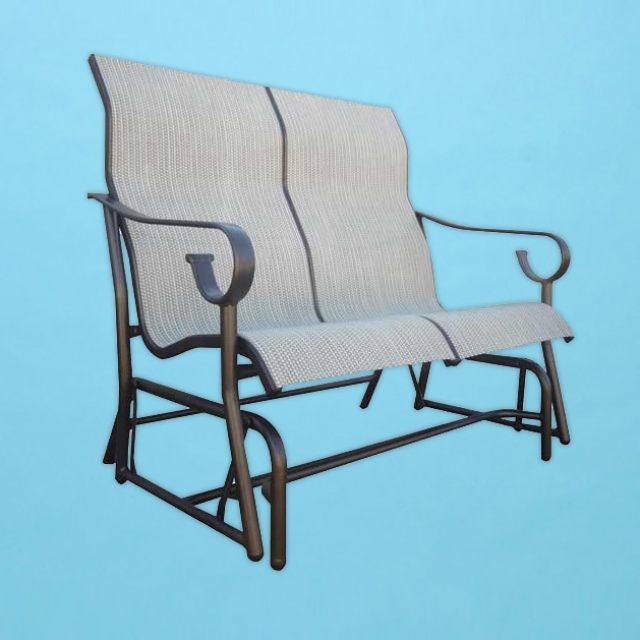 S-285 Sierra line sling love seat gliding chair