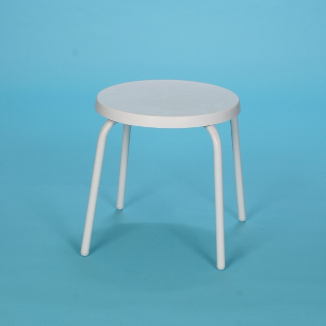 "18"" Commercial Grade round fiberglass top table no hole"