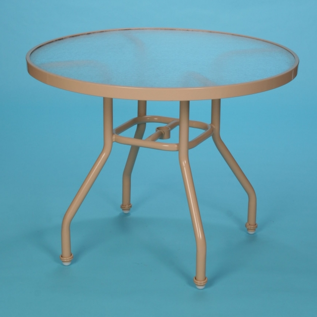 "S-42A 42"" round acrylic dining table with hole"