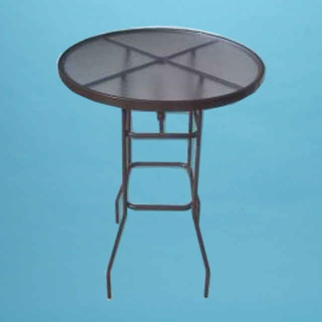 "42"" round acrylic top bar height table"