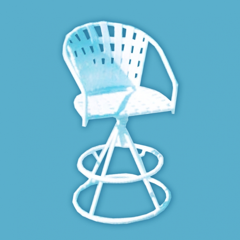 """J-350 strap line rocking chair with flat arms 2"""" straps"""