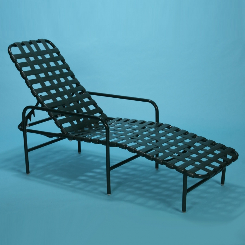"""J-150 strap line commercial grade safety rail chaise lounge 12"""" tall"""