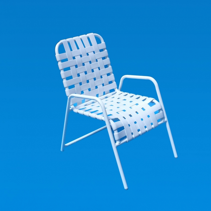 Commercial Grade Table Chair Classic Strap Patio