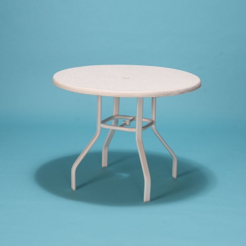 "36"" Commercial Grade round fiberglass top table"