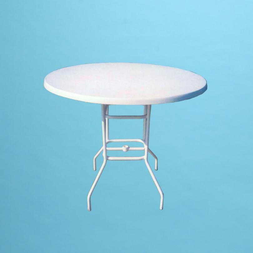 "36"" round fiberglass top bar height table"