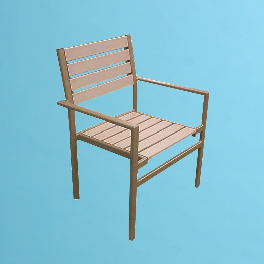 ECO wood chair with arms