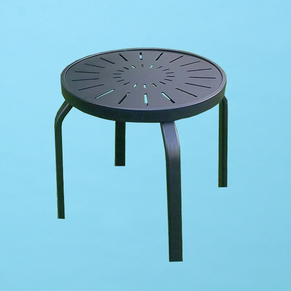 "18"" round R style Aluminum top table"