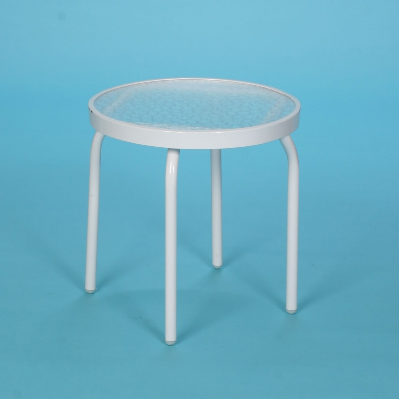 "18"" round acrylic side table"