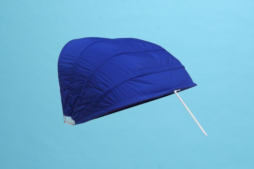 "Double size cabana marine grade fabric with 60"" mesh panel"