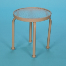 "S-18A 18"" round acrylic side table no hole"