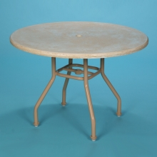 """S-42FS, 42"""" round faux stone dining table with hole"""