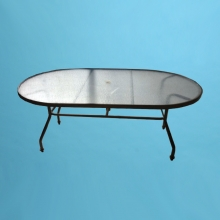 "S-42x72"" Oval Acrylic dining table with hole"