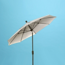 9' x 8 fiberglass rib market with rotating tilt umbrella