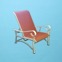 S-90 Sierra line sling reclining chair with arms