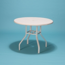 "48"" Commercial Grade round fiberglass top table"