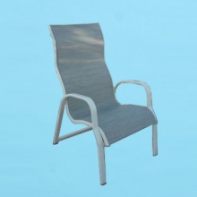 I-51 line sling high back dining chair