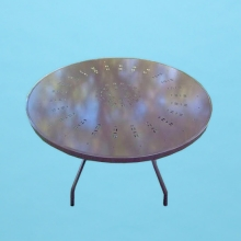 "42"" round C style Aluminum top table"