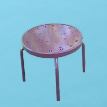 "18"" round C style Aluminum top table"