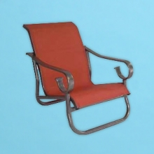 S-40 Sierra Line sling sand chair with arms