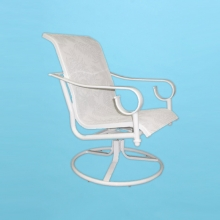 S-350 Sierra line sling swivel rocking chair with arms