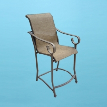 S-75 Sierra line sling bar stool with arms