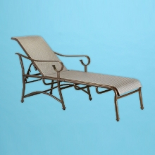 Sierra S-150 line sling chaise lounge with flat arms