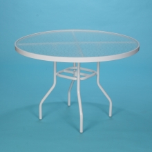 "36"" round acrylic top dining table"