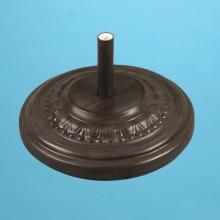 125 pound fancy fiberglass umbrella base filled with cement Chestnut